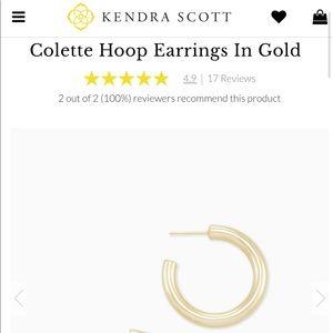 NWT • Kendra Scott • Gold Hoops •